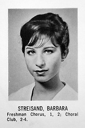 Feb 25, 2007 - New York, NY, USA - Photos from BARBRA STREISAND (Barbara Joan Streisand), actress, singer, director, producer in her Erasmus High School graduating class of 1959 yearbook. (Credit Image: � Erasmus High School/ZUMA Press)