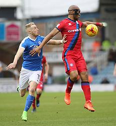 Marcus Maddison of Peterborough United puts Calvin Andrew of Rochdale under pressure - Mandatory by-line: Joe Dent/JMP - 25/02/2017 - FOOTBALL - ABAX Stadium - Peterborough, England - Peterborough United v Rochdale - Sky Bet League One