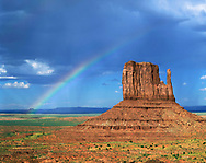 Rainbow Over The Left Mitten, Monument Valley Tribal Park, Arizona
