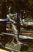 Bled, Slovenia, YUGOSLAVIA. Rowing Sculpture in the boat storage  area 1989 World Rowing Championships, Lake Bled. [Mandatory Credit. Peter Spurrier/Intersport Images]