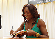 7 July 2010- New York, NY- Venus Williams at book signing held at Barnes & Nobles with Tennis Icon Venus Williams as she begins her promotion of her new book ' Come to Win ' published by HarperCollins, on July 7, 2010 in New York City