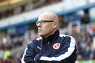 Brian McDermott, the Reading manager looks on from the dugout. Skybet football league championship match, Reading  v Blackburn Rovers at The Madejski Stadium  in Reading, Berkshire on Sunday 20th December 2015.<br /> pic by John Patrick Fletcher, Andrew Orchard sports photography.