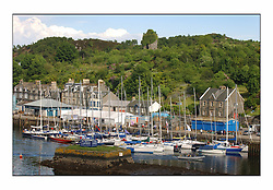 Bell Lawrie Series Tarbert Loch Fyne - Yachting.The third day's inshore races, which transpired to be the last...Tarbert Harbour with the Castle behind.