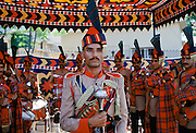Pakistani soldier in ceremonial uniform in Islamabad, Pakistan