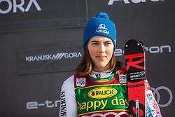 Petra Vlhova (SVK) celebrating at the Ladies' Slalom at 56th Golden Fox event at Audi FIS Ski World Cup 2019/20, on February 16, 2020 in Podkoren, Kranjska Gora, Slovenia. Photo by Matic Ritonja / Sportida
