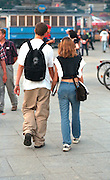 Couple age 17 walking hand in hand.  Krakow Poland