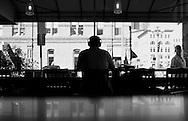 2011 September 06 - Coffee shop, Pioneer Square, Seattle, WA, USA. Copyright Richard Walker