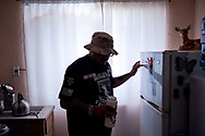 Deported U.S. Army veteran Ivan Ocon, 41, at his home in Ciudad Juárez, Chihuahua, México, Monday, July 23, 2018.<br /> <br /> Ocon served in the Army from 1997 through December 2003, including a tour in Korea with the 2nd Infantry Division and a deployment to Jordan in support of Operation Iraqi Freedom with Echo Battery, 1st Battalion, 7th Air Defense Artillery Regiment, 108th Air Defense Artillery Brigade a few months before the 2003 invasion of Iraq.<br /> <br /> After returning from his deployment to Jordan in 2003, Ocon was discharged under honorable conditions at his final duty station of Fort Bliss. According to Ocon, he failed a drug test after smoking marijuana to help cope with his depression and insomnia. He was demoted from his rank as sergeant to specialist.<br /> <br /> In 2006, Ocon was arrested for a conspiracy charge to aiding and abetting in a kidnapping that he failed to report to police. He served nine years in federal prison and was deported to Mexico after being picked up by Immigration and Customs Enforcement in 2016.