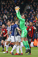 Football - 2017 / 2018 Premier League - AFC Bournemouth vs. West Bromwich Albion<br /> <br /> Ben Forster of West Bromwich Albion catches a cross at Dean Court (Vitality Stadium) Bournemouth <br /> <br /> COLORSPORT/SHAUN BOGGUST