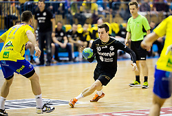 Rok Ovnicek of Gorenje during handball match between RK Celje Pivovarna Lasko and RK Gorenje Velenje in Eighth Final Round of Slovenian Cup 2015/16, on December 10, 2015 in Arena Zlatorog, Celje, Slovenia. Photo by Vid Ponikvar / Sportida