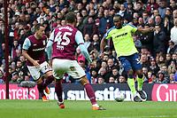 Aston Villa v Derby County - Sky Bet Championship<br /> BIRMINGHAM, ENGLAND - APRIL 28 :  Cameron Jerome, of Derby County, closed down by Aston Villa's John Terry