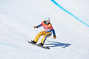 Eva Samkova of Czech Republic during the womens boardercross time trials at the Pyeongchang Winter Olympics on 16th February 2018 at Phoenix Snow Park in South Korea