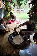 Kava ceremony, Vuniuto Village, Taveuni, Fiji