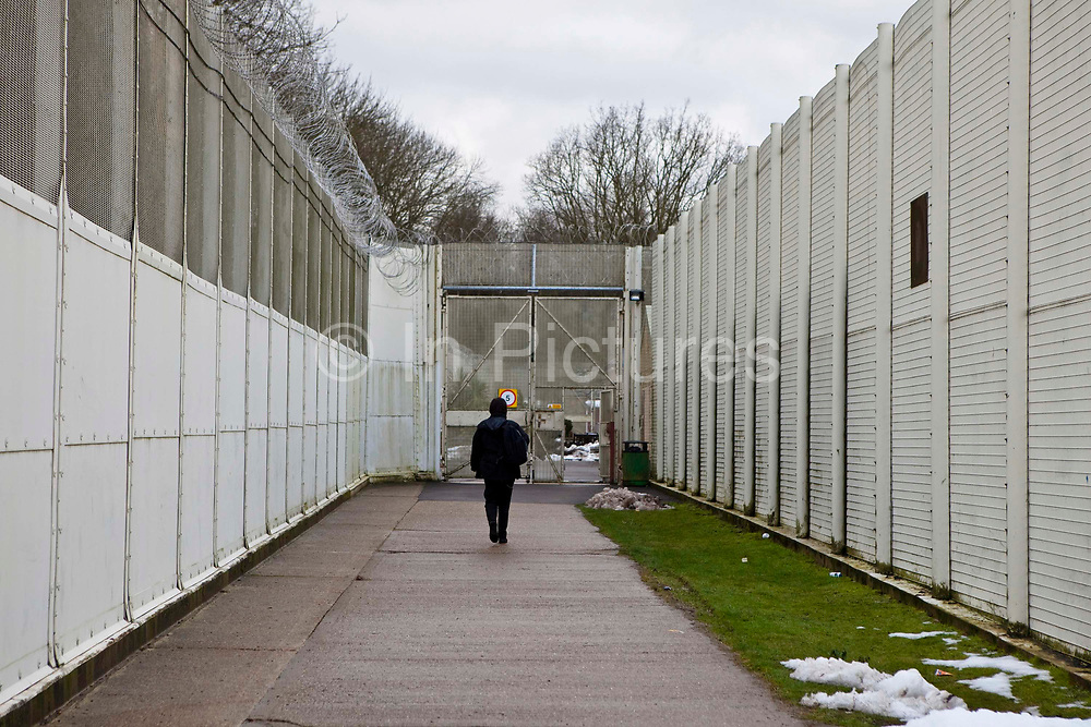 A visitor walks through the secure grounds of the prison. HMP HM Prison Send is a Closed Category women's prison, located in the village of Send (near Woking), in Surrey, England. The prison is operated by Her Majesty's Prison Service. Send is a closed prison for adult females. In addition it also houses a 20 bed Addictive Treatment Unit, an 80 bed Resettlement Unit and a 40 bed Therapeutic Community. HMP Sends Education Department runs Key Skills courses and NVQs in Business Administration. The Farms and Gardens department offers Floristry NVQs, and the Works Department run an industrial workshop and painting party. Prisoners held in the Resettlement Unit can also do voluntary work, attend College courses and Work Placements in the outside community.