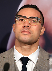 Joseph Parker during a press conference at Sky Sports Studios, Isleworth.