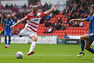 Herbie Kane of Doncaster Rovers (15) takes a shot during the EFL Sky Bet League 1 match between Doncaster Rovers and Gillingham at the Keepmoat Stadium, Doncaster, England on 20 October 2018.