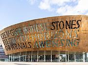 Wales Millennium Centre, Canolfan Mileniwm Cymru, Cardiff Bay, Cardiff, South Wales, UK spend 2004