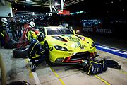 June 12-17, 2018: 24 hours of Le Mans. 95 Aston Martin Racing, Aston Martin Vantage, Nicki Thiimm Marco Sorensen, Darren Turner , pitstop