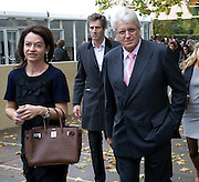 DR. CORINNE FLICK; GERT RUDOLPH FLICK, Frieze Art Fair 2008. Regent's Park. London. 15 October 2008 *** Local Caption *** -DO NOT ARCHIVE -Copyright Photograph by Dafydd Jones. 248 Clapham Rd. London SW9 0PZ. Tel 0207 820 0771. www.dafjones.com