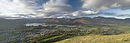 Keswick and Derwent Water from Latrigg, Lake District, Cumbria, UK