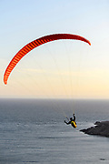 Paragliding over the North Sea.
