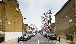 Royal mail street sign project World Book Day - London. Montague Road, Hackney, London, February 21 2018.