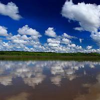 South America, Peru, Amazon. Amazon panorama.