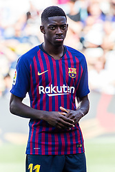 August 15, 2018 - Ousmane Dembele from France during the Joan Gamper trophy game between FC Barcelona and CA Boca Juniors in Camp Nou Stadium at Barcelona, on 15 of August of 2018, Spain. (Credit Image: © AFP7 via ZUMA Wire)