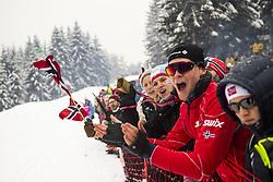 March 9, 2019 - Oslo, NORWAY - 190309 Spectators during the men's 50 km classic technique during the FIS Cross-Country World Cup on March 9, 2019 in Oslo..Photo: Fredrik Varfjell / BILDBYRÃ…N / kod FV / 150211. (Credit Image: © Fredrik Varfjell/Bildbyran via ZUMA Press)