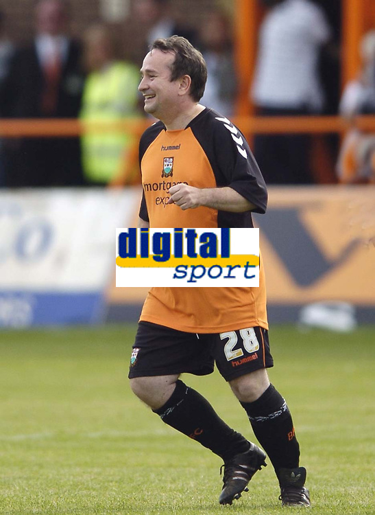 Photo: Jonathan Butler.<br /> Barnet v Arsenal. Pre Season Friendly. 14/07/2007.<br /> As agreed Super sub Richard Evans a non professional comes on for Barnet after a significant donation to the club.