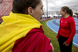 October 11, 2018 - Buenos Aires, Buenos Aires, Argentina - The young Athlete Defrere Elena Hanne of 17 years of the delegation of Belgium debuted this afternoon at the Olympic Youth Games in the discipline of 1 Kg Women's Disc Release, Stage 1, remaining in the position number 13. (Credit Image: ©  Roberto Almeida Aveledo/ZUMA Wire)