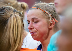 07-07-2019 FRA: Final USA - Netherlands, Lyon<br /> FIFA Women's World Cup France final match between United States of America and Netherlands at Parc Olympique Lyonnais. USA won 2-0 / Jackie Groenen #14 of the Netherlands, Daniëlle van de Donk #10 of the Netherlands