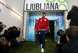 Jesse Lingard of England arrives at The SRC Stozice Stadium ahead of the World Cup Qualifier against Slovenia - Mandatory by-line: Robbie Stephenson/JMP - 10/10/2016 - FOOTBALL - SRC Stozice - Ljubljana, England - England Press Conference