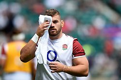 Luke Cowan-Dickie of England looks on during the pre-match warm-up - Mandatory byline: Patrick Khachfe/JMP - 07966 386802 - 11/08/2019 - RUGBY UNION - Twickenham Stadium - London, England - England v Wales - Quilter International