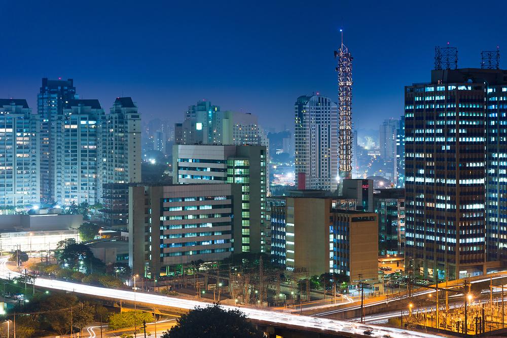 Skyline of office buildings in Sao Paulo, Brazil