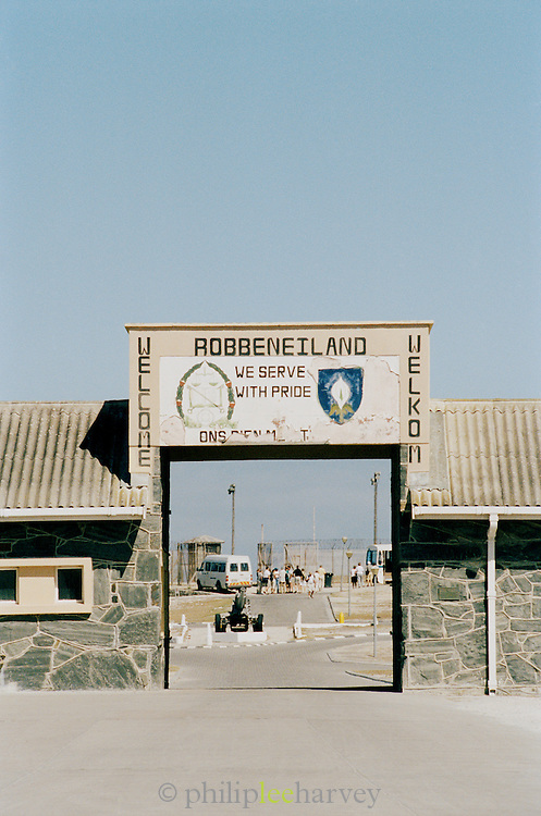 One entrance way to Robben Island Museum, the old prison where Nelson Mandela was held. Near Cape Town, South Africa