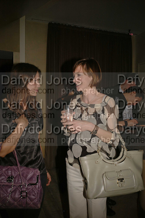 ARABELLA MUSGRAVE AND JO ELVIN, Luella Bartley Dinner, Nobu, Berkeley St. 16 May 2006. ONE TIME USE ONLY - DO NOT ARCHIVE  © Copyright Photograph by Dafydd Jones 66 Stockwell Park Rd. London SW9 0DA Tel 020 7733 0108 www.dafjones.com