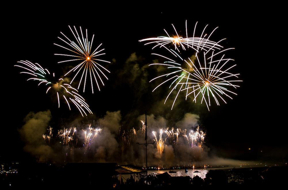 Fireworks shot at the Züri Fäscht - Zürich festival - om July 5th 2013.
