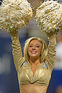 St. Louis Rams Cheerleader Tara, preforms during the game against Seattle at the Edward Jones Dome in St. Louis, Missouri, October 9, 2005.