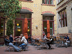 Barcomis cafe in Sophie-Gips   courtyard in Mitte district of Berlin in Germany