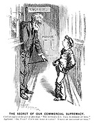 """Clerk (to applicant for post of office-boy). """" The guvnor's out. Call to-morrow at nine."""" Applicant. """" Oh, I say! Can't you make it later? I have my breakfast at nine."""""""