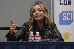 June 17, 2017 - Washington, DC, U.S - Clare Kramer, of television shows such as Buffy the Vampire Slayer and the movie Bring it On as well as co-founder of GeekNation and host of podcasts such as Five by Five, pointing her finger as she answers a question during a Q&A session at Awesome Con 2017. (Credit Image: © Evan Golub via ZUMA Wire)