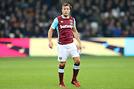 Mark Noble, the West Ham United captain looking on. Premier league match, West Ham Utd v Hull city at the London Stadium, Queen Elizabeth Olympic Park in London on Saturday 17th December 2016.<br /> pic by John Patrick Fletcher, Andrew Orchard sports photography.