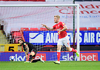 Charlton Athletic's Jayden Stockley celebrates scoring the opening goal<br /> <br /> Photographer Chris Vaughan/CameraSport<br /> <br /> The EFL Sky Bet League One - Charlton Athletic v Lincoln City - Tuesday 4th May 2021 - The Valley - London <br /> <br /> World Copyright © 2021 CameraSport. All rights reserved. 43 Linden Ave. Countesthorpe. Leicester. England. LE8 5PG - Tel: +44 (0) 116 277 4147 - admin@camerasport.com - www.camerasport.com
