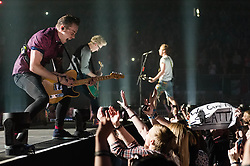© Licensed to London News Pictures. 24/04/2014. London, UK.   McBusted performing live at The O2 Arena.  In this picture - Danny Jones (left), Tom Fletcher (centre) James Bourne (right).   *** LICENSE CONDITIONS USAGE ALLOWED ONLY UNTIL 14 MAY 2014, NO USAGE BEYOND THAT DATE***.  McBusted are an English pop-rock group composed of members of the bands Busted & McFly - James Bourne, Tony Fletcher, Danny Jones, Harry Judd, Dougie Poynter, and Matt Willis.  The only member of the original groups not participating in the new lineup is former Busted singer CharlieSimpson. Photo credit : Richard Isaac/LNP