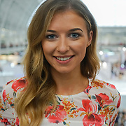 Olympia London, London, England, UK. Simone Partner is a Youtuber & blogger talk show 'How to Get Noticed' at The Olympia Beauty show at Kensington Olympia in London on 1st October 2017.