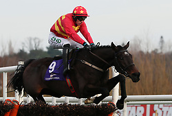 Klassical Dream ridden by Paul Townend clears the last on the way to winning the Tote Pays Dividends Maiden Hurdle during day one of the Leopardstown Christmas Festival at Leopardstown Racecourse.