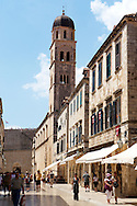 Stock photos of Placa (Stradum) - Main street in Dubrovnik looking towards Luza Square  - Croatia .<br /> <br /> Visit our MEDIEVAL PHOTO COLLECTIONS for more   photos  to download or buy as prints https://funkystock.photoshelter.com/gallery-collection/Medieval-Middle-Ages-Historic-Places-Arcaeological-Sites-Pictures-Images-of/C0000B5ZA54_WD0s