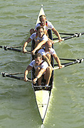 Seville, Andulucia, SPAIN<br /> <br /> 2002 World Rowing Championships - Seville - Spain Wednesday 18/09/2002<br /> <br /> GER LM4- Bow. MUELLER-FALCKE, Martin<br /> SCHUSTER, Axel<br /> LOCHER, Stefan<br /> BECH, Andreas<br /> BECH, Andreas<br /> <br /> [Mandatory Credit:Peter SPURRIER/Intersport Images]