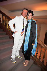 JASPER CONRAN and LUCY BIRLEY at fundraising dinner and auction in aid of Liver Good Life a charity for people with Hepatitis held at Christies, King Street, London on 16th September 2009.